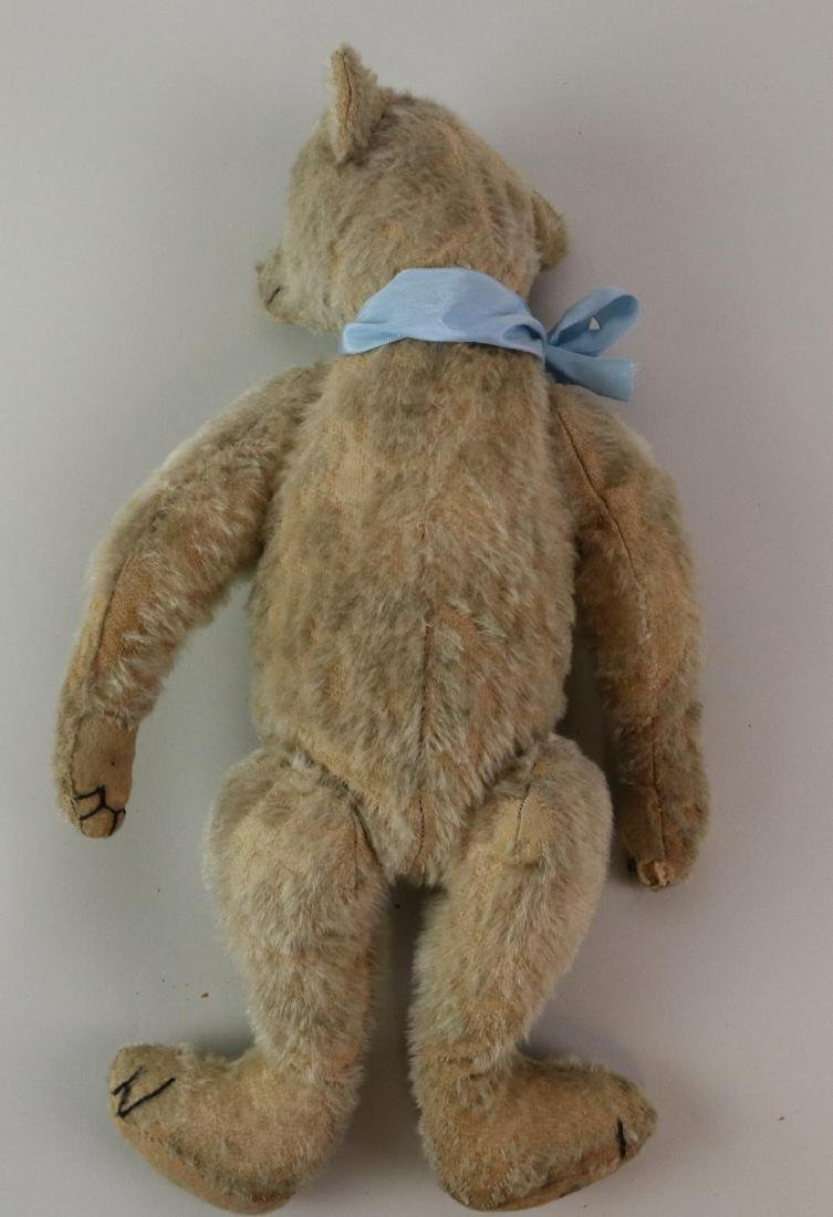 """16"""" UNMARKED ANTIQUE MOHAIR TEDDY BEAR. - 7"""