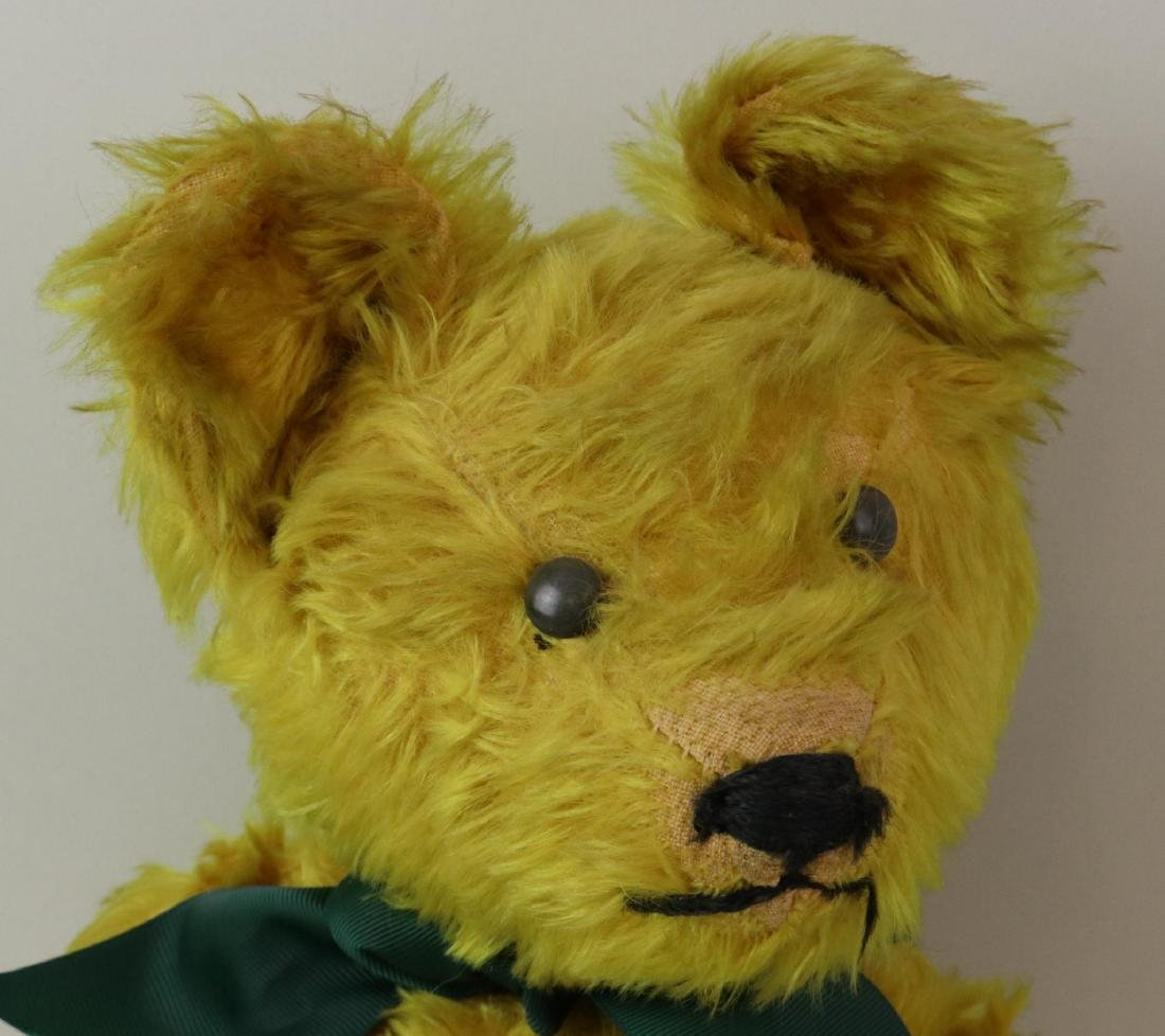 """19""""  UNMARKED ANTIQUE MOHAIR TEDDY BEAR. - 2"""