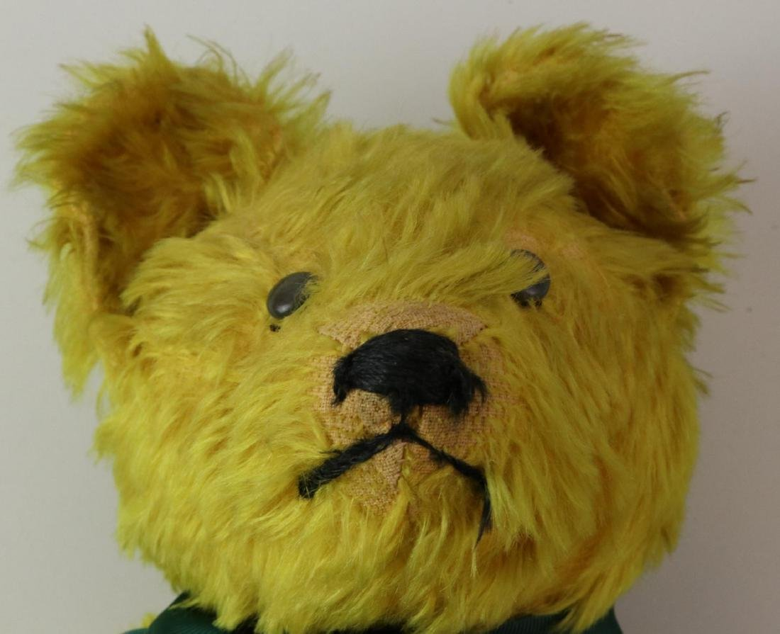 """19""""  UNMARKED ANTIQUE MOHAIR TEDDY BEAR. - 3"""