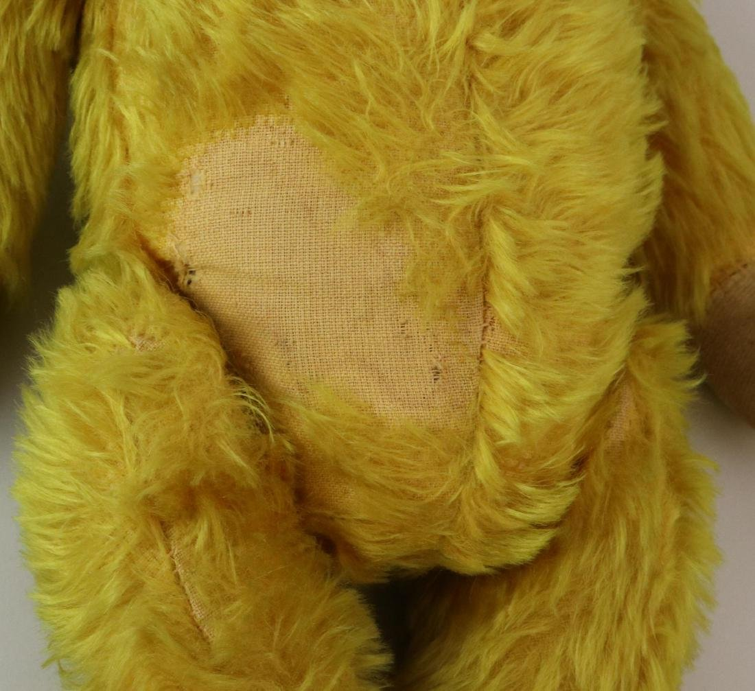 """19""""  UNMARKED ANTIQUE MOHAIR TEDDY BEAR. - 4"""