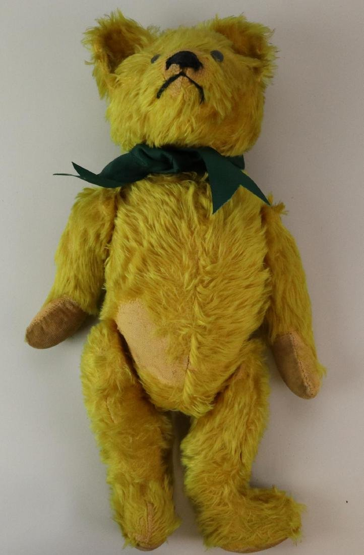 """19""""  UNMARKED ANTIQUE MOHAIR TEDDY BEAR. - 7"""