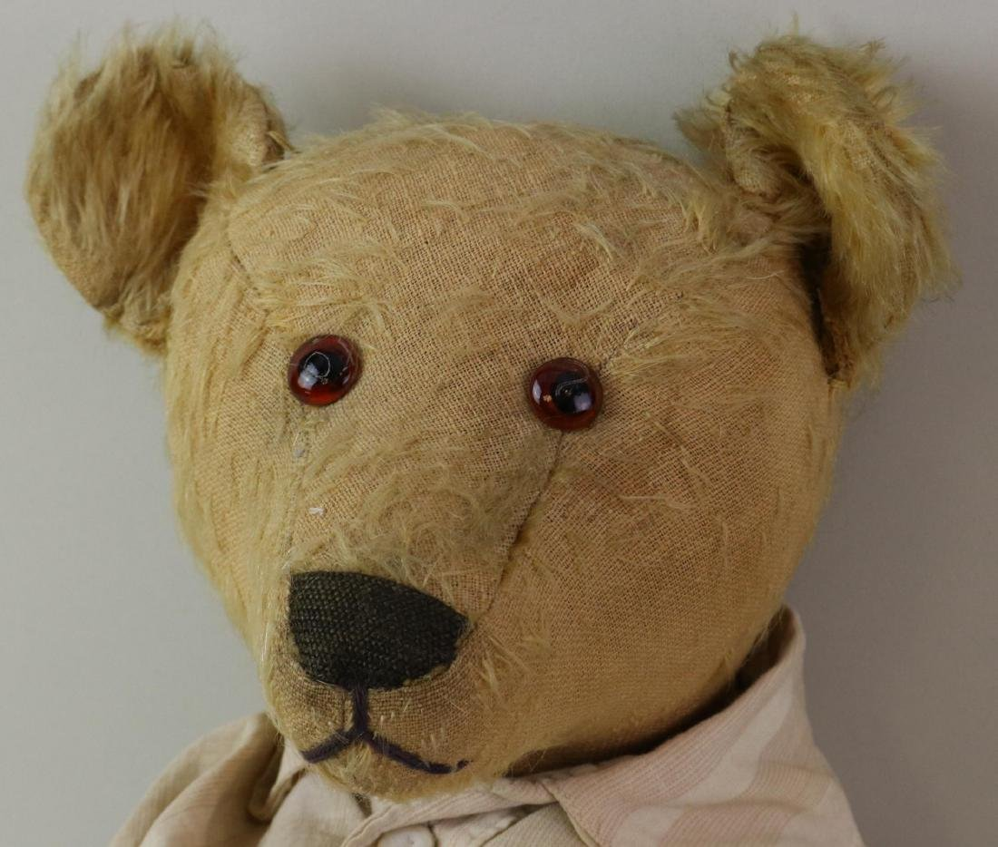 "20"" UNMARKED ANTIQUE MOHAIR TEDDY BEAR. - 2"