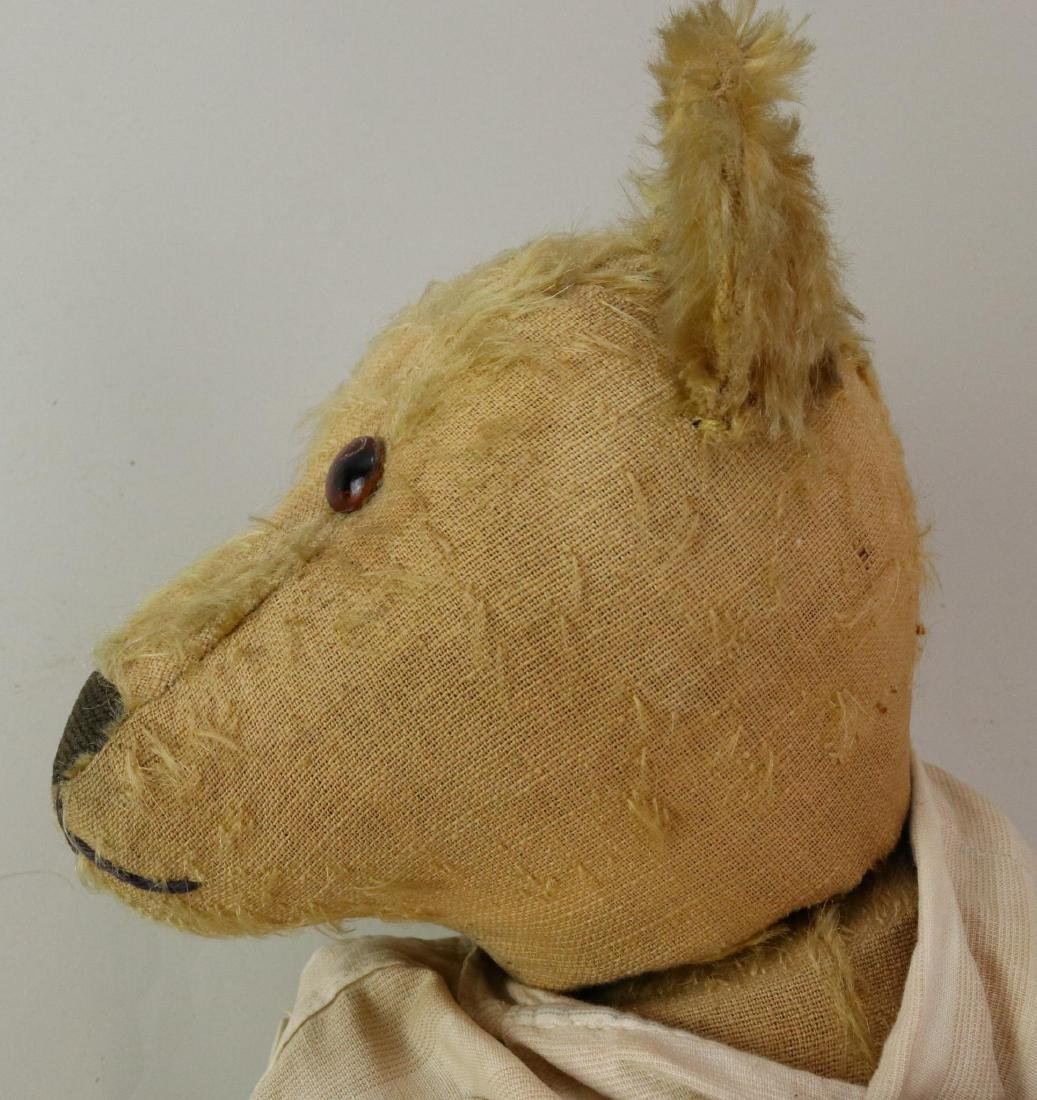 "20"" UNMARKED ANTIQUE MOHAIR TEDDY BEAR. - 7"