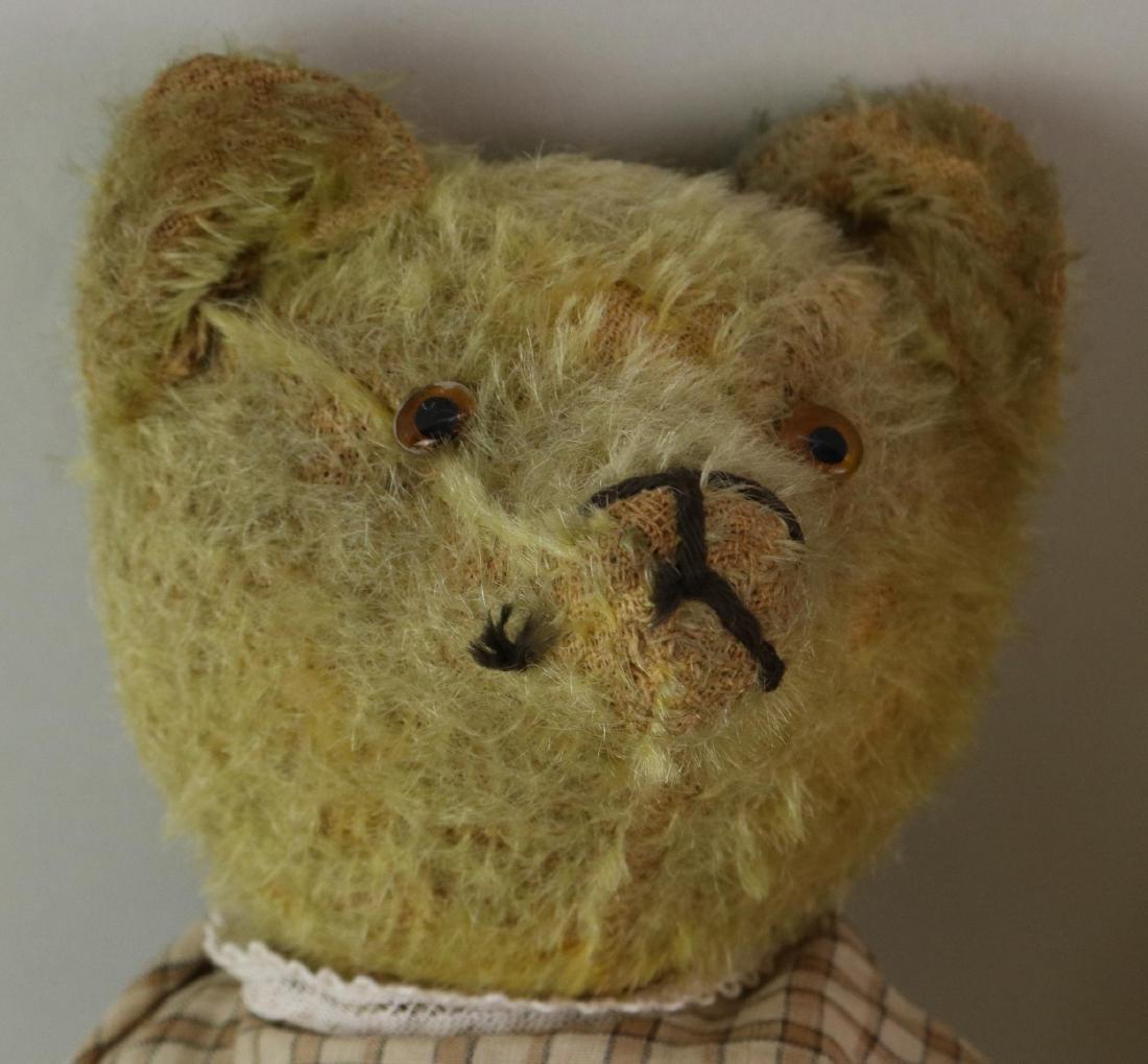 PAIR OF ANTIQUE MOHAIR TEDDY BEARS. - 2