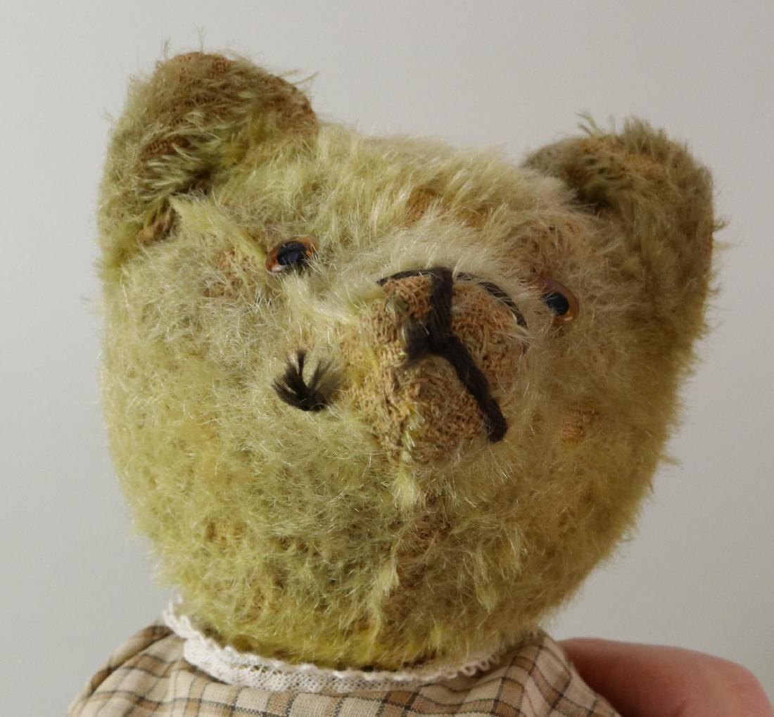 PAIR OF ANTIQUE MOHAIR TEDDY BEARS. - 3