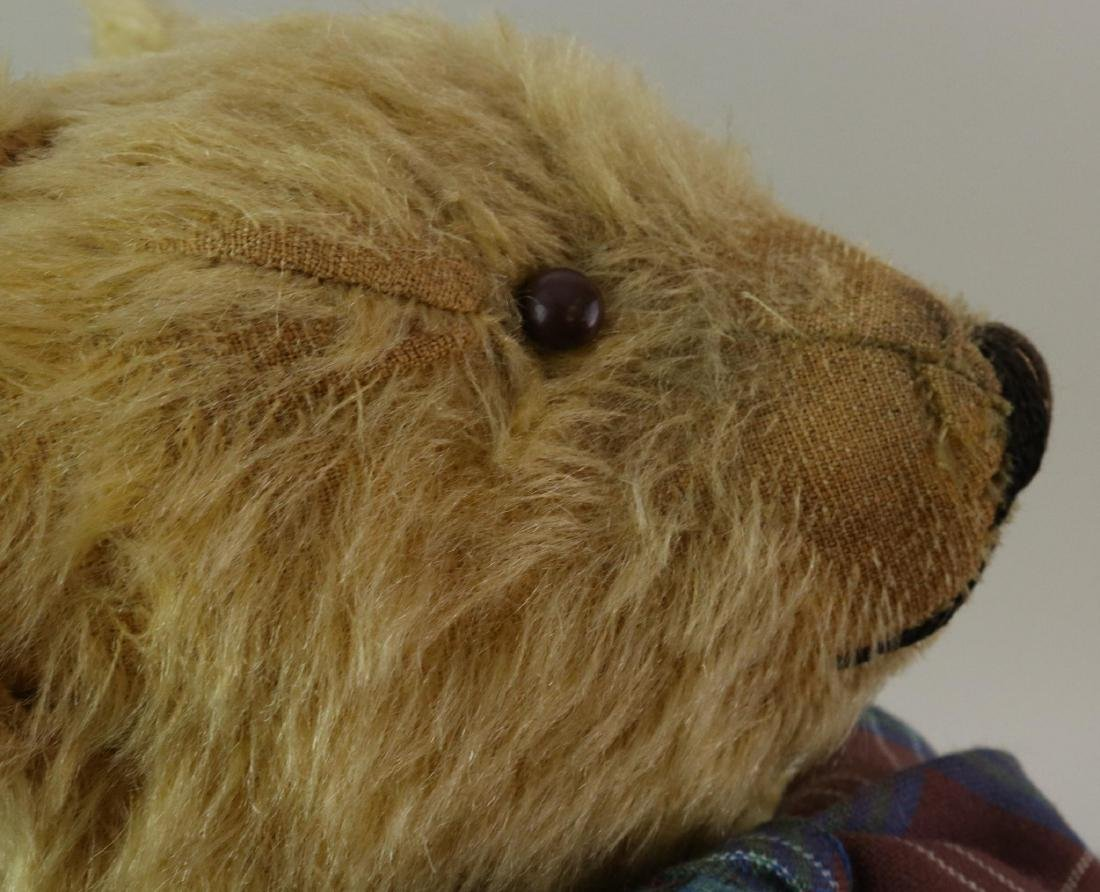PAIR OF ANTIQUE MOHAIR TEDDY BEARS. - 9