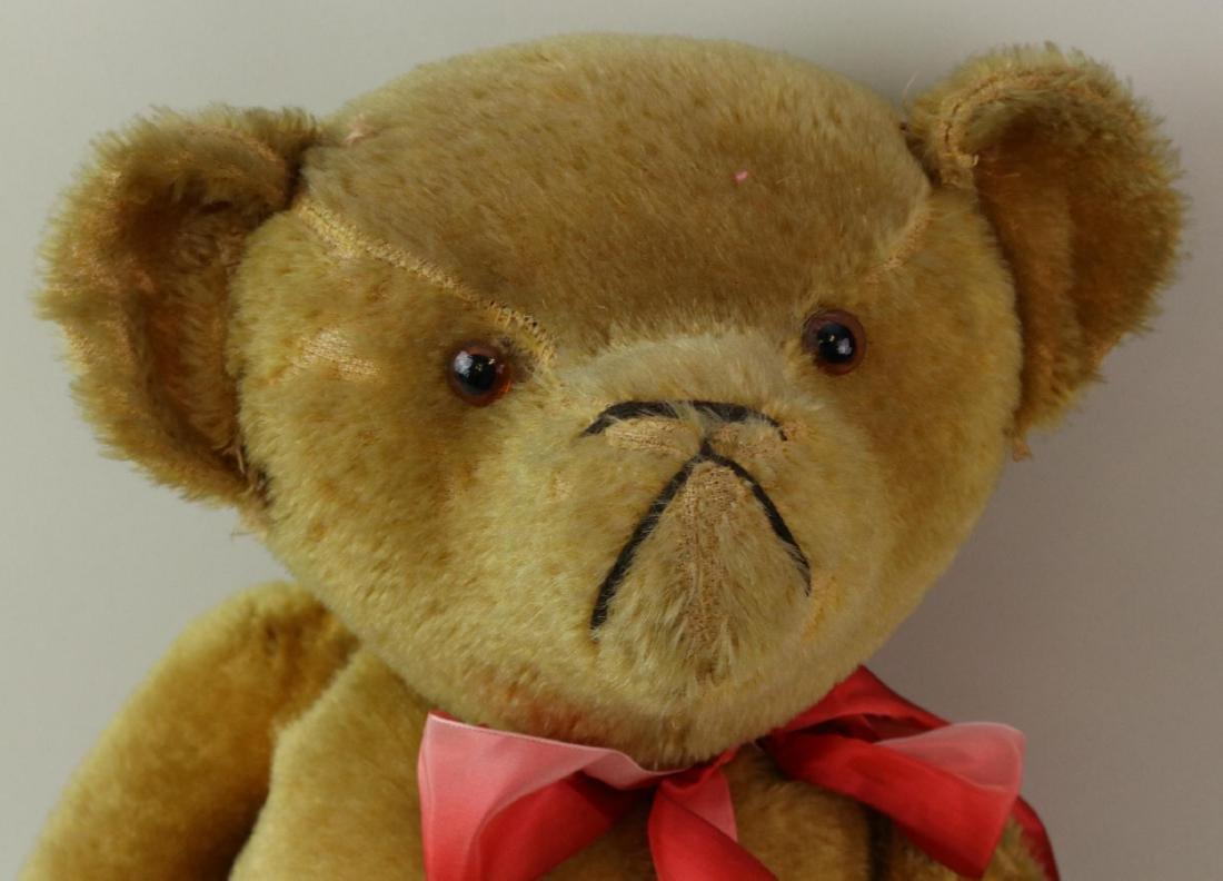 """25"""" ANTIQUE MOHAIR TEDDY BEAR. - 2"""