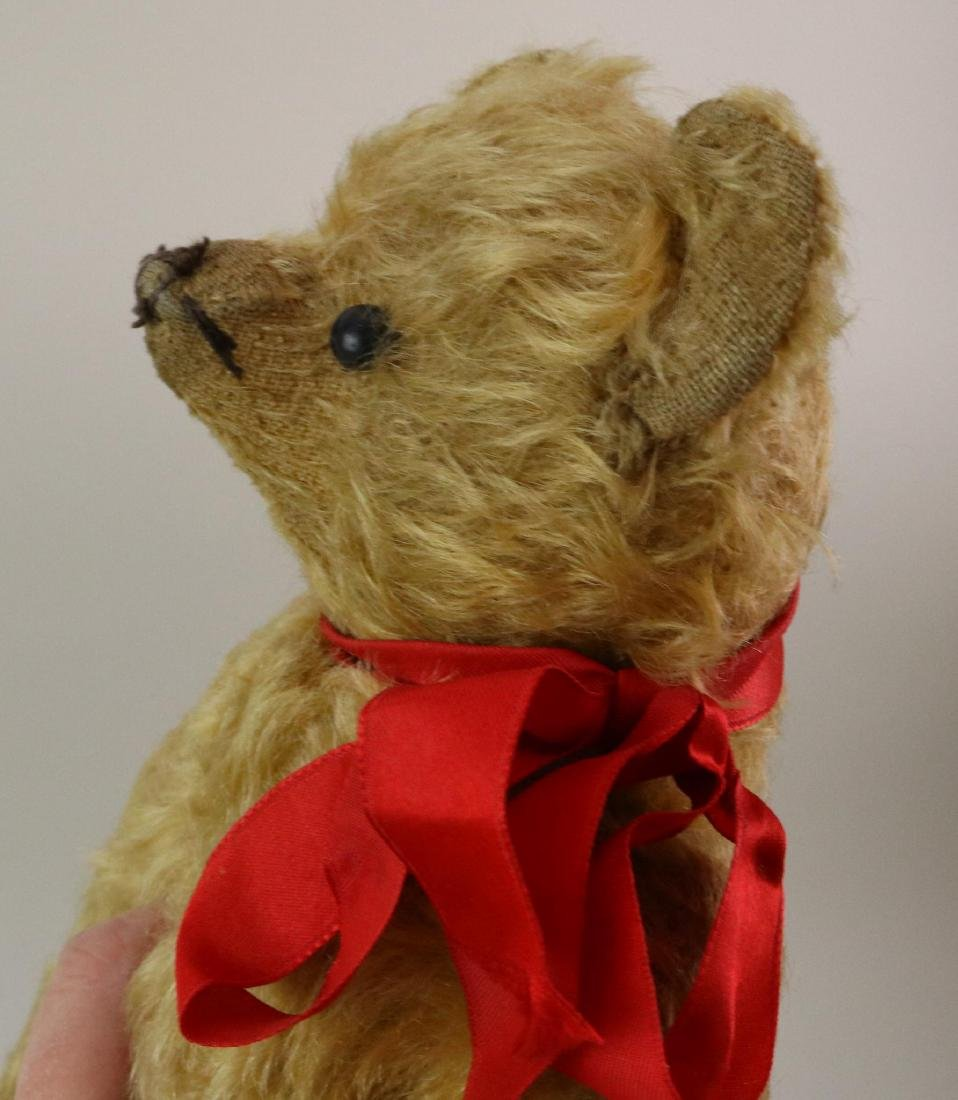 """12"""" UNMARKED ANTIQUE MOHAIR TEDDY BEAR. - 5"""