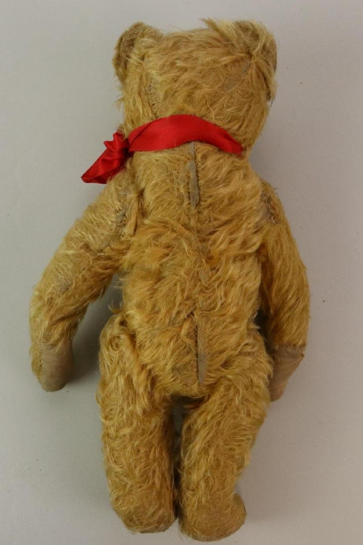 """12"""" UNMARKED ANTIQUE MOHAIR TEDDY BEAR. - 6"""