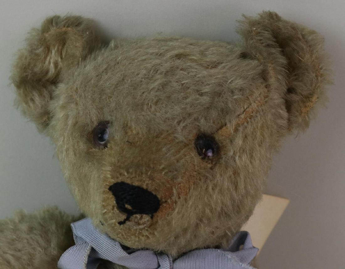"""17"""" UNMARKED ANTIQUE MOHAIR TEDDY BEAR. - 2"""