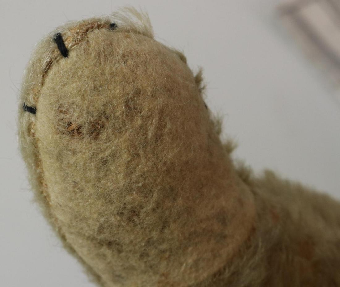 """17"""" UNMARKED ANTIQUE MOHAIR TEDDY BEAR. - 3"""