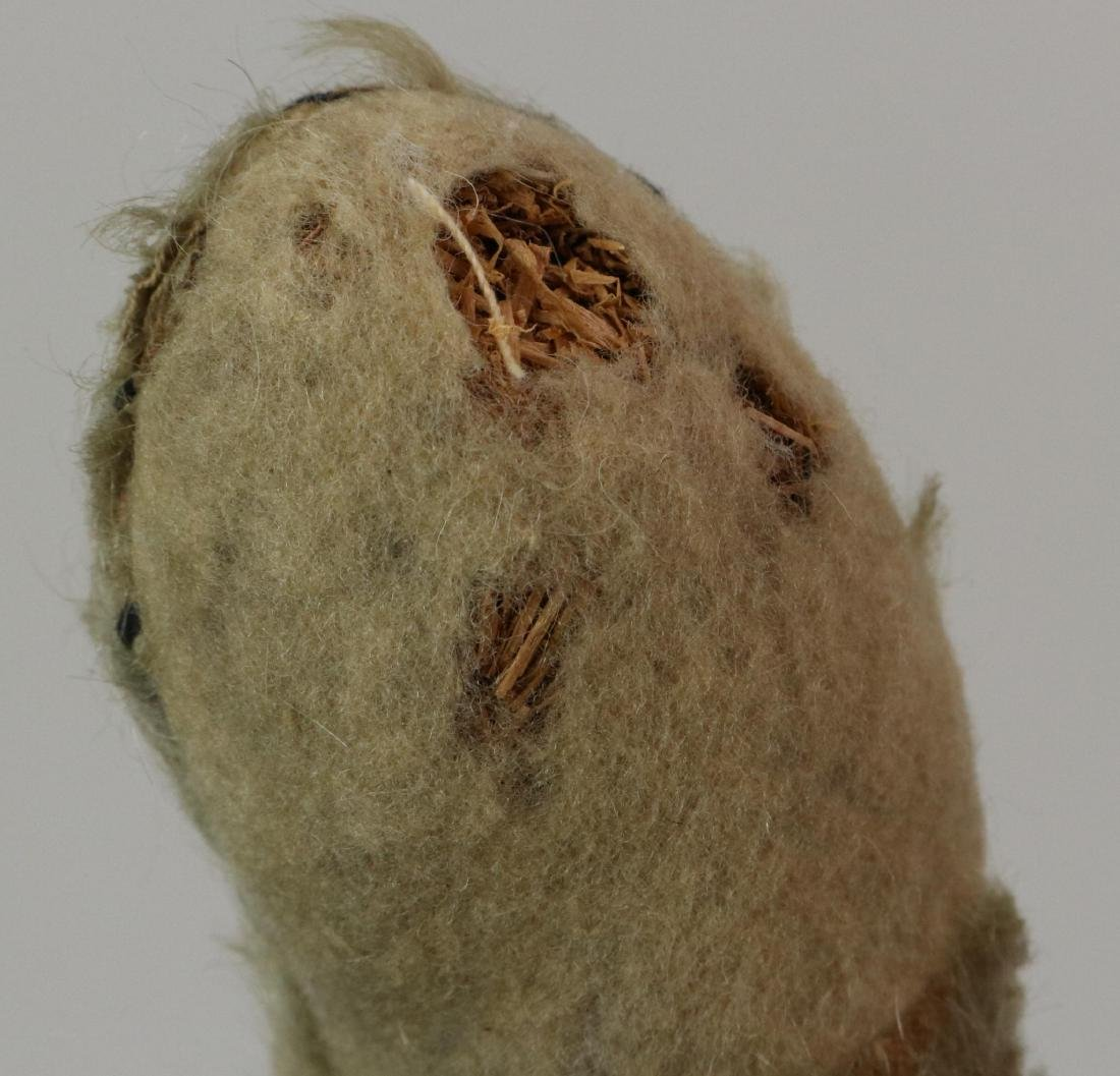 """17"""" UNMARKED ANTIQUE MOHAIR TEDDY BEAR. - 4"""