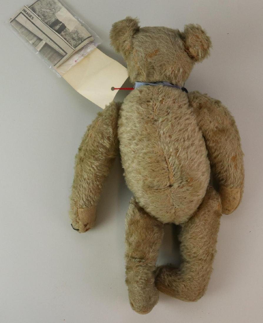 """17"""" UNMARKED ANTIQUE MOHAIR TEDDY BEAR. - 7"""