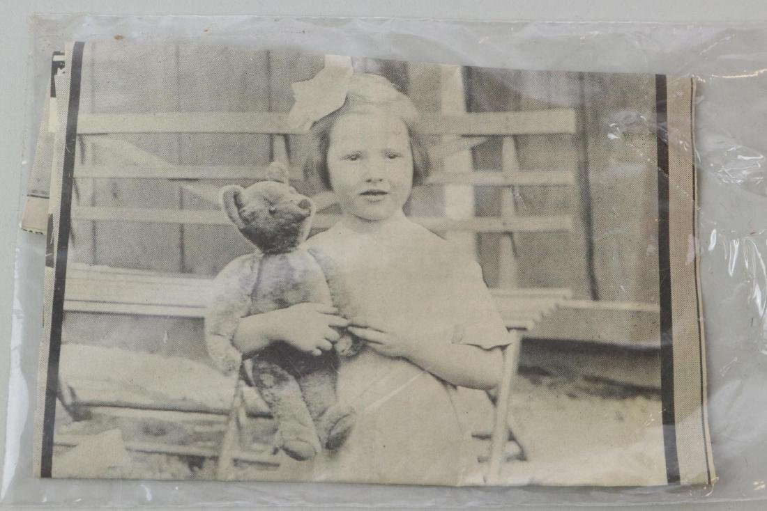 """17"""" UNMARKED ANTIQUE MOHAIR TEDDY BEAR. - 9"""