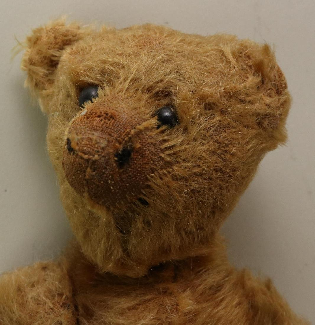 PAIR OF UNMARKED ANTIQUE MOHAIR TEDDY BEARS. - 2