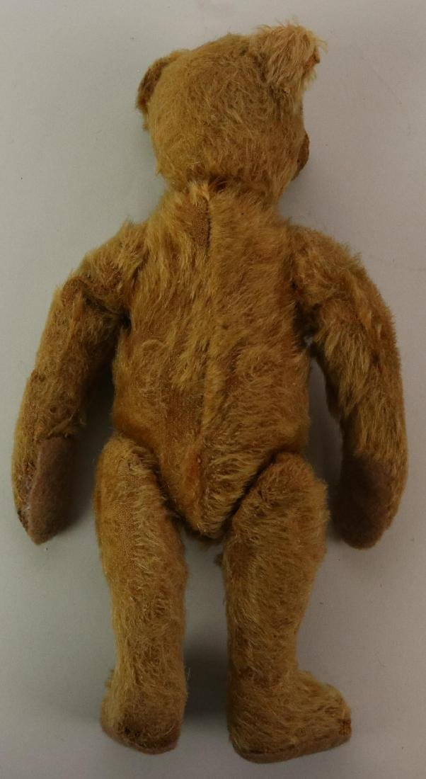 PAIR OF UNMARKED ANTIQUE MOHAIR TEDDY BEARS. - 3