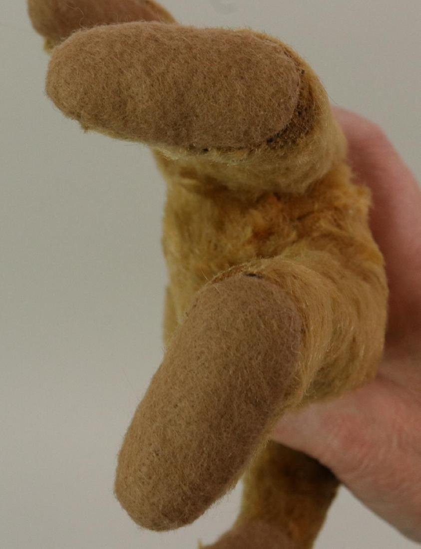 PAIR OF UNMARKED ANTIQUE MOHAIR TEDDY BEARS. - 4