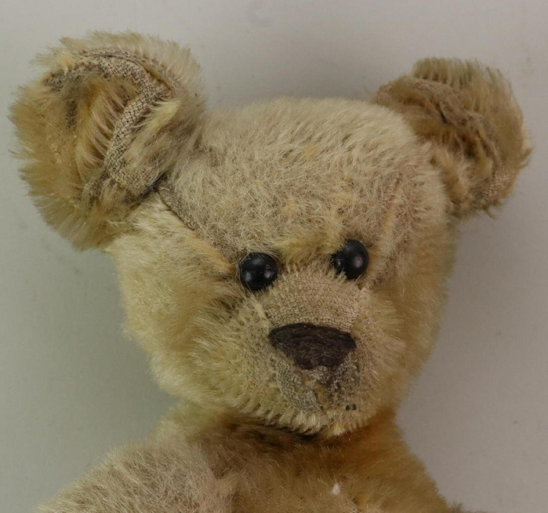 PAIR OF UNMARKED ANTIQUE MOHAIR TEDDY BEARS. - 5