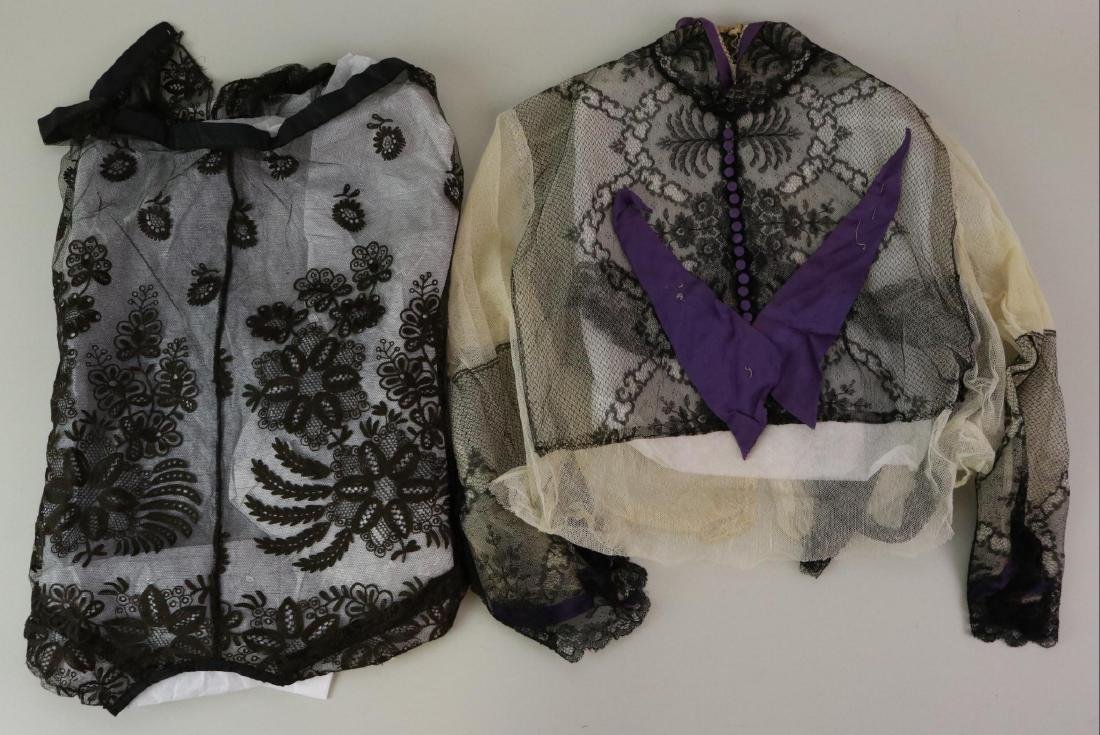 LOT OF ANTIQUE LACE CLOTHING.