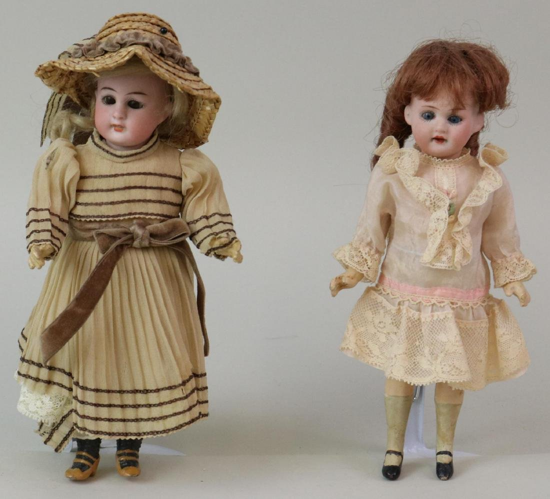 "ANTIQUE BISQUE HEAD DOLL(S), 12"" AND UNDER."