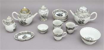 18th C. (16) Piece Soft Paste Partial Tea Set