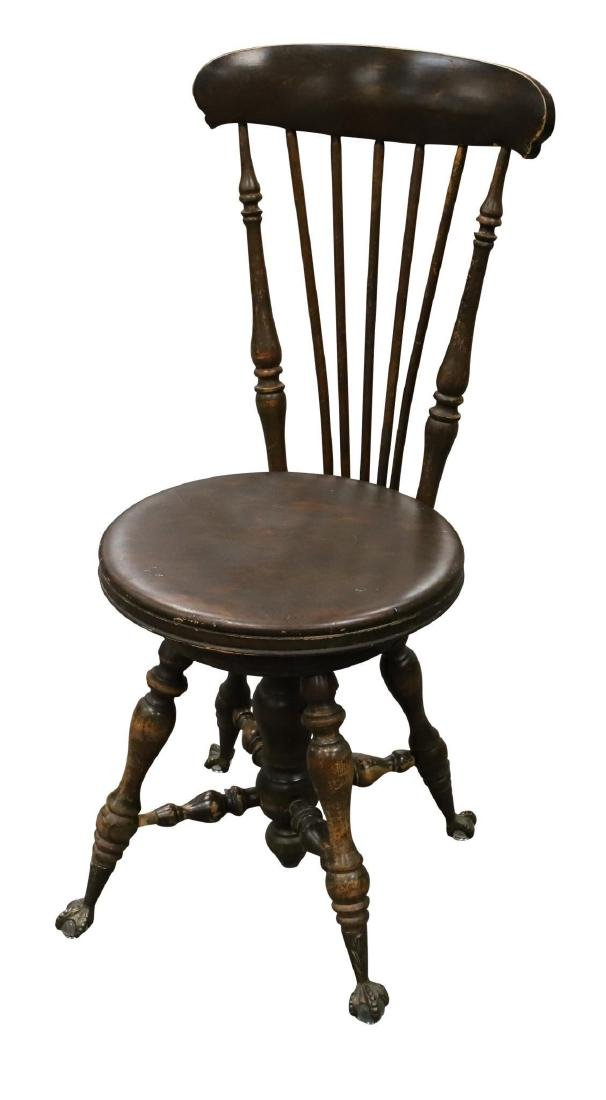 Victorian Splayed Leg Piano Stool