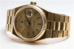 Gents 18KY Gold Rolex Wrist Watch