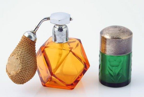 1020: Bohemian Glass Atomizer and Perfume Bottle