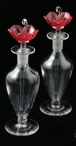 1021: Pair of Steuben Bottles