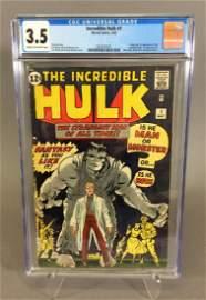 Incredible Hulk #1, 5/62, CGC 3.5