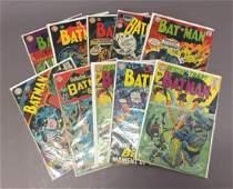 Ten Batman and Detective Comics Silver and Bronze Age