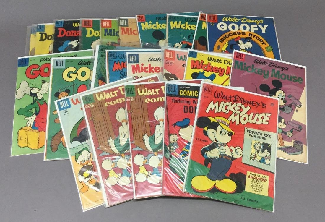 25 Walt Disney- Gold and Silver Age, All 10 cent Comics