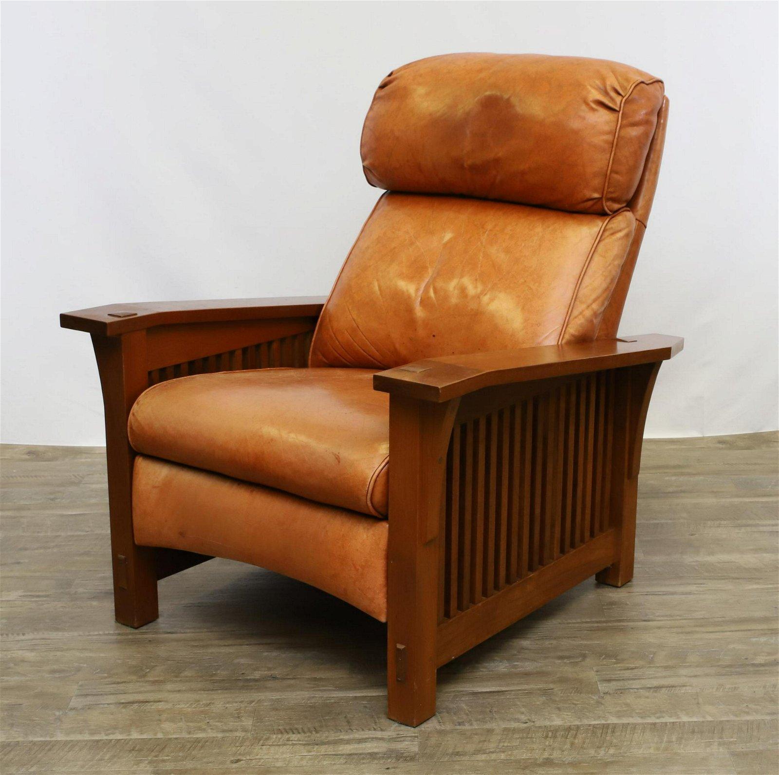 Brilliant Stickley Spindle Morris Recliner Machost Co Dining Chair Design Ideas Machostcouk