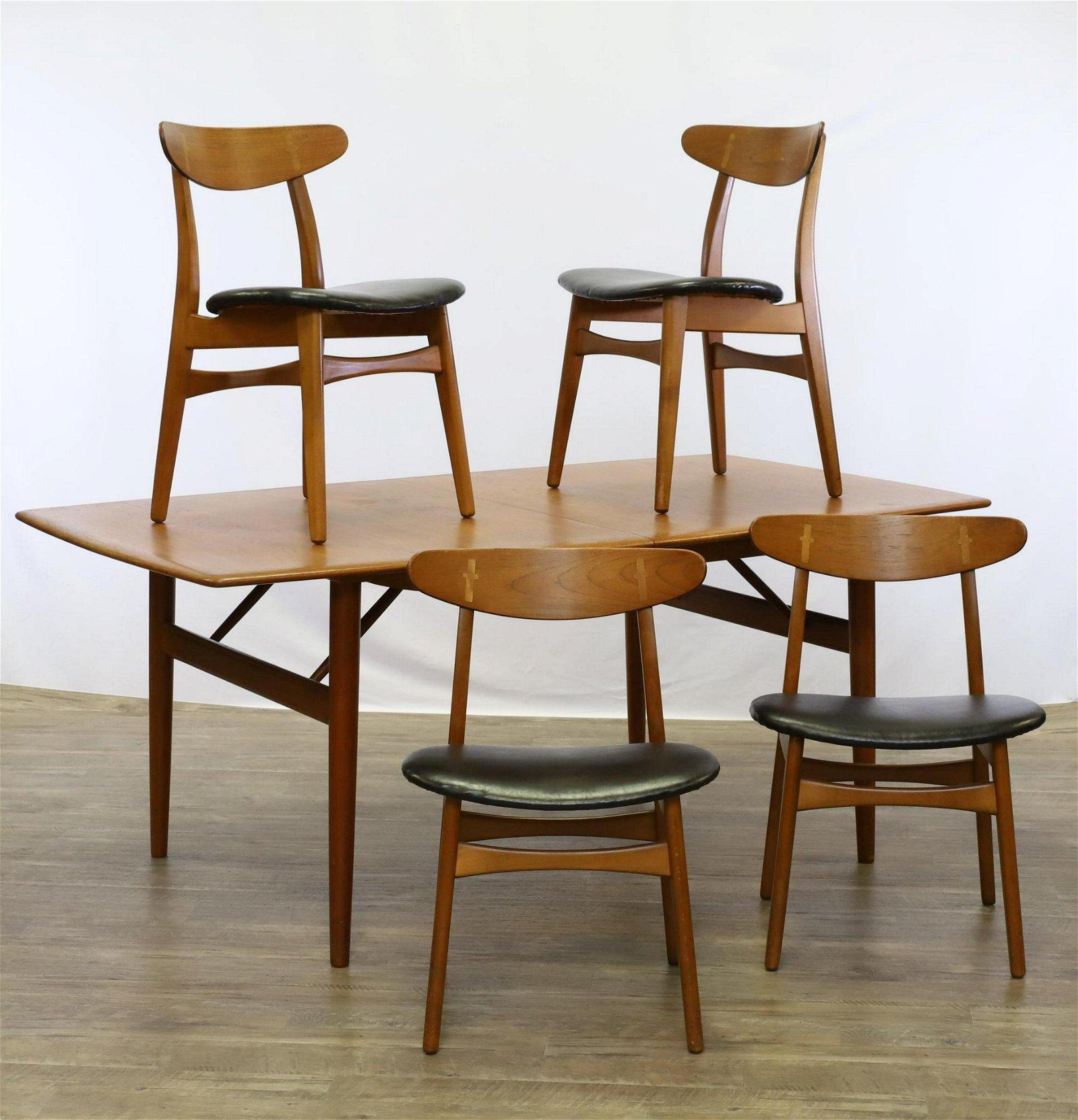 Hans J. Wegner for Carl Hansen Danish Dining Suite