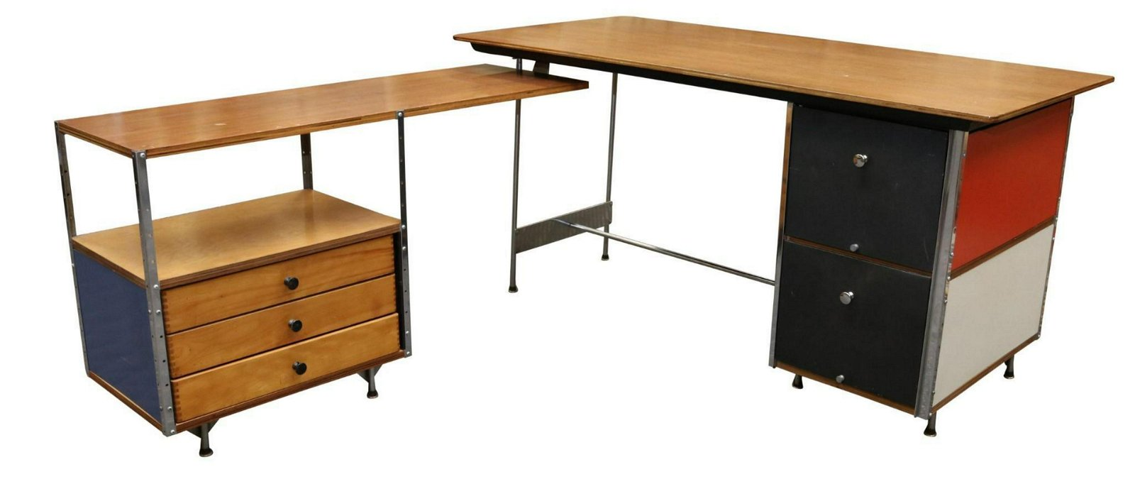 Charles Eames for Herman Miller ESU Desk and Return