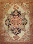 Heriz Hand Knotted Room Size Rug