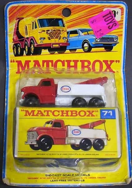 5001: Matchbox #71 Esso Tow Truck, Unusual Packaging