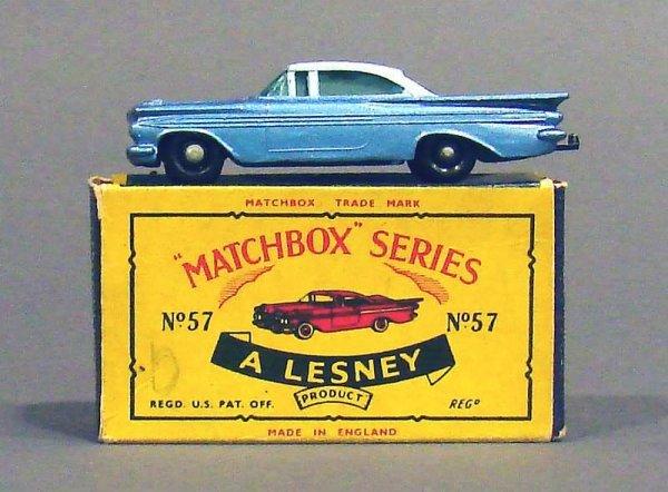 5010: Matchbox #57 Chevy Impala, Black Wheels