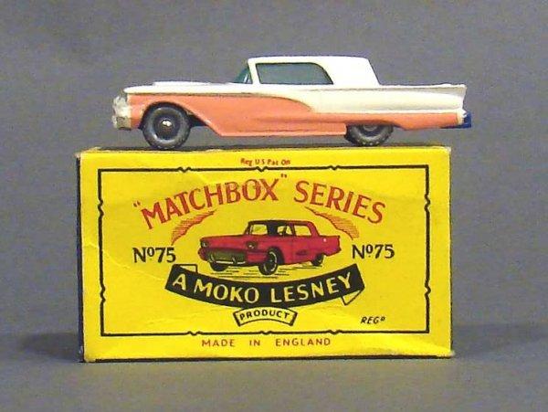 5011: Matchbox #75 Silver Wheel Ford T-Bird