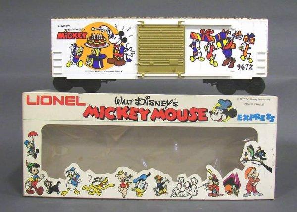 5018: Lionel 9672 Mickey Mouse 50th Anniversary Box Car