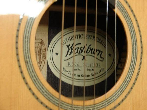 "5512: Washburn ""1892"" Re-Issue Parlor Guitar - 2"