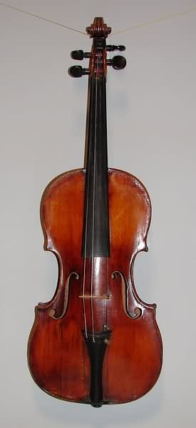 5516: Zacharia Fisher 4/4 Violin - Wirzburg, 1831