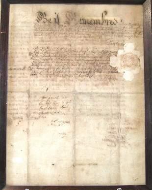 Late 17th Century Indenture-Philadelphia.