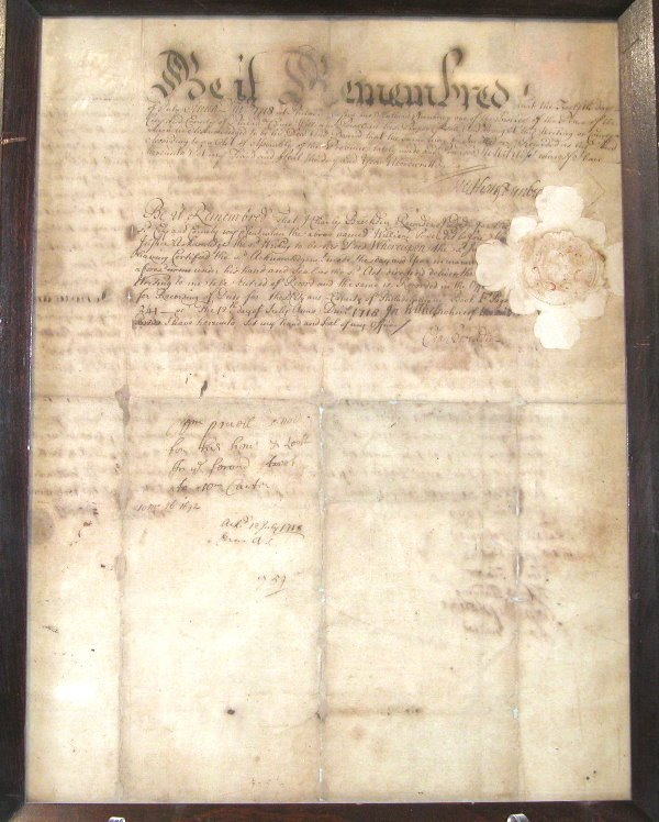 1: Late 17th Century Indenture-Philadelphia.