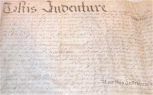 18th Century Indenture-Philadelphia.