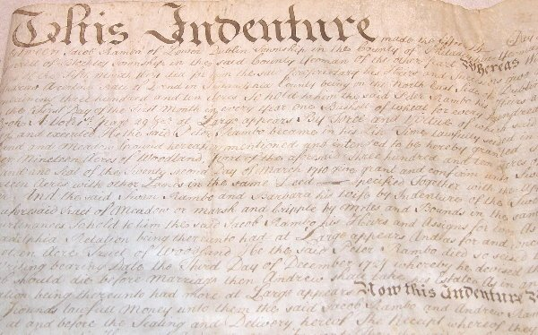 2: 18th Century Indenture-Philadelphia.