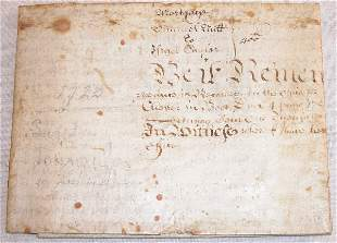 Early 18th Century Indenture-Chester County PA.