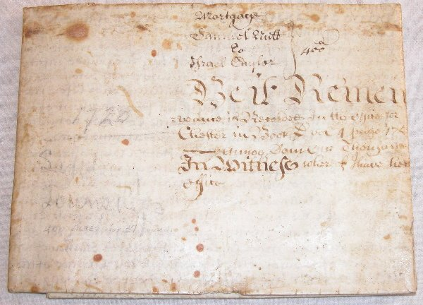 5: Early 18th Century Indenture-Chester County PA.