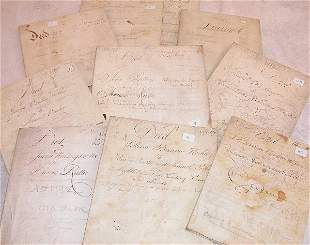 Grouping of 18th Century Indentures-Furnace Related.