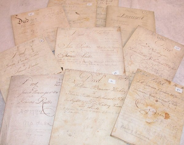 8: Grouping of 18th Century Indentures-Furnace Related.